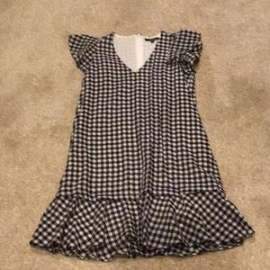 Madewell black and white gingham dress